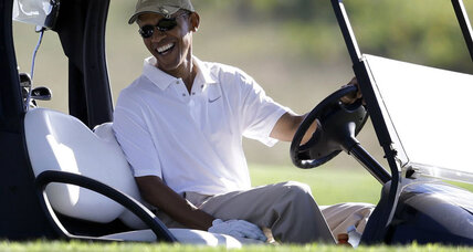 Michael Jordan disses Obama's golf game. Which president was real First Duffer?