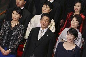 Double-whammy for Japan's Shinzo Abe: Two female cabinet ministers ...