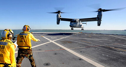 Navy searches for missing MV-22 Osprey crew member