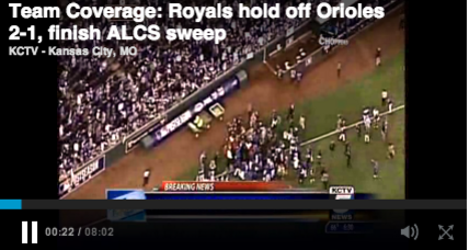 It's a sweep! Royals head to World Series (+video)
