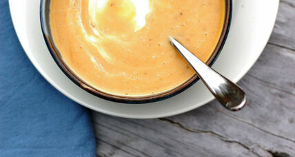 Winter squash and pear soup with sage