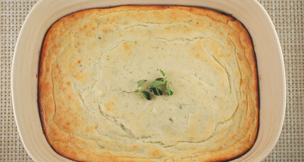 Vidalia onion and goat cheese soufflé