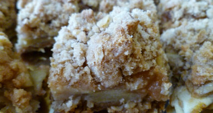 Spiced apple caramel crumb bars