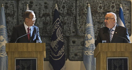 UN chief Ban Ki-Moon denounces Israeli settlements