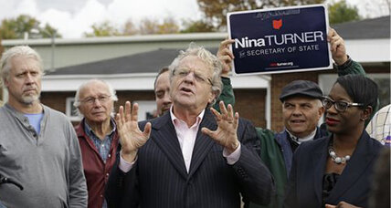 Why is Jerry Springer stumping in Ohio?