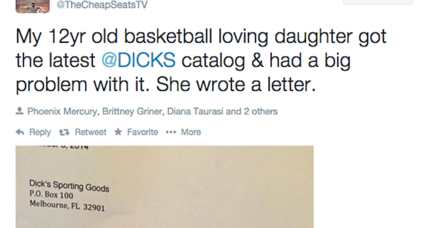 Dick's Sporting Goods CEO apologizes to 12-year-old girl for sexist catalog