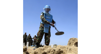 Land mines could be almost completely gone within a decade, experts say
