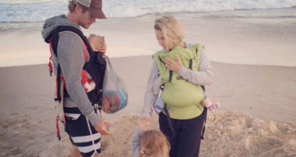 Can a manly man wear a baby, even if he's not Chris Hemsworth?