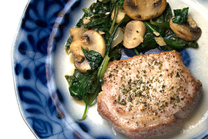 Recipes pork spinach