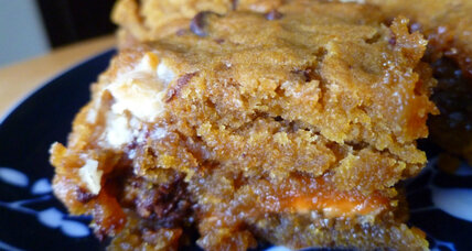 Loaded pumpkin caramel blondies