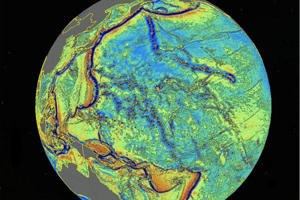 New Ocean Floor Map Reveals Hidden Seamounts Thousands Of Them - Earth's four oceans