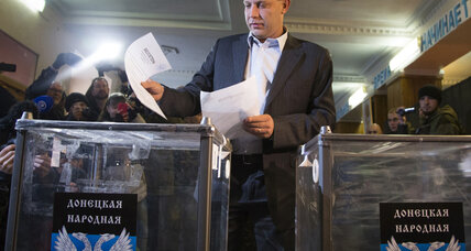 Pro-Russian rebel leaders declared winners in eastern Ukraine elections