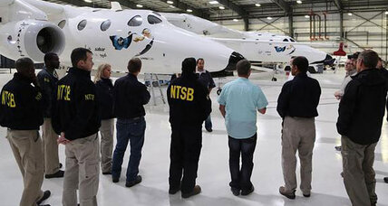 What caused Virgin Galactic's spaceship to break apart?