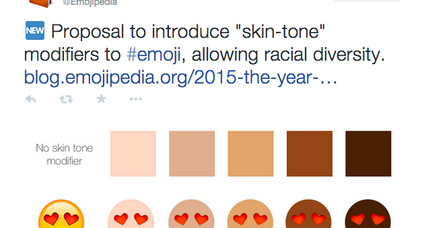 Emoji skin tones floated: Should emoji be more racially diverse?