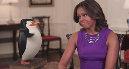 Operation Got Your 6: Michelle Obama's tribute to veterans, via penguins