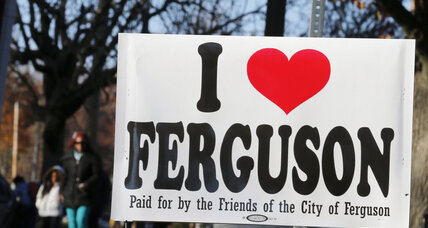 'I love Ferguson.' Neighboring city shows support, sympathy