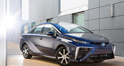Sporty, hydrogen-fueled Toyota Mirai emits water, not CO2