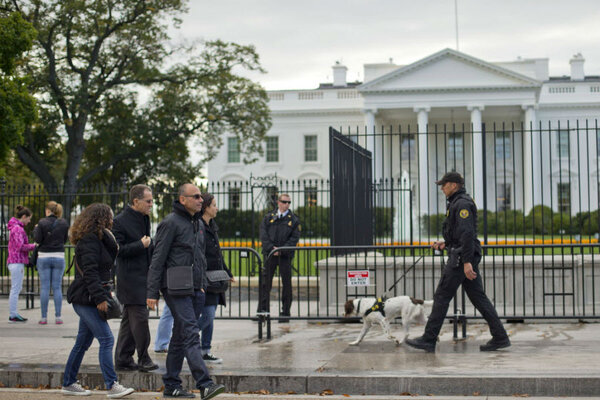 Secret service plans taller white house fence will that block jumpers