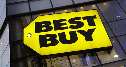 Best Buy surprises with Q3 sales gain. Stock surges nearly 10 percent.