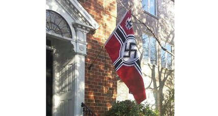 Why would someone fly a Nazi flag to protest Obama? (+video)