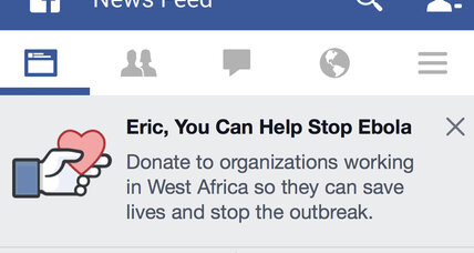 Facebook, Google bring the Ebola fight closer to home