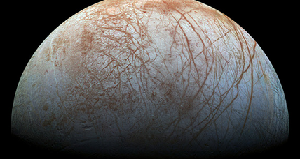 NASA reveals spectacular image of Jupiter's moon Europa