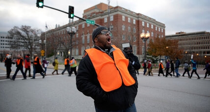 Amid Ferguson's fire and anger, safe havens point to push for peace