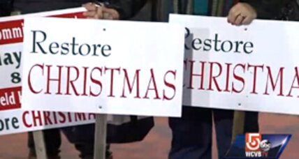 Is 'Christmas break' finished? For this Massachusetts town, it is. (+video)