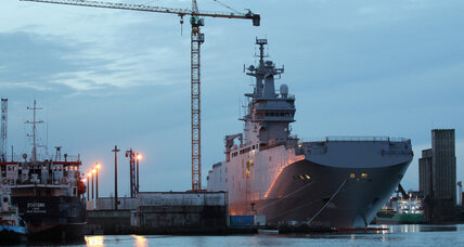 Russia says it will 'wait patiently' as France suspends Mistral warship sale