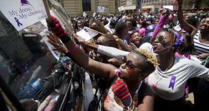 Angered by assault, women take to Nairobi streets in 'miniskirt protest'