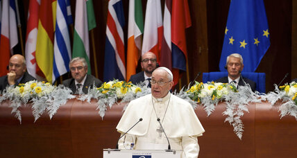 Pope implores Europe to take care of immigrants, create jobs