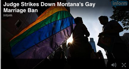 Judge overturns Montana same-sex marriage ban