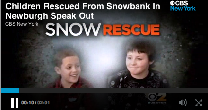 New York boys survive in snow pile thanks to air pocket