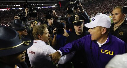 College football TV schedule: Alabama vs. LSU, Oregon vs. Utah, Kansas State vs. Texas Christian