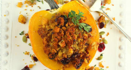 Thanksgiving side dish: Stuffed baked acorn squash
