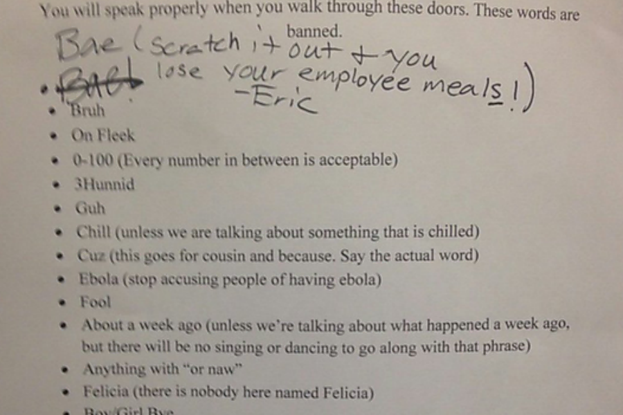 Chick Fil A List Of Banned Words A Smart Move By Restaurant Manager