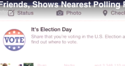How did Facebook influence voter turnout?