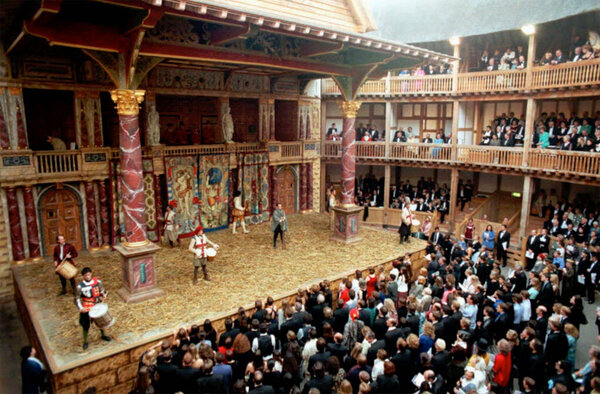 What kinds of people visited the Globe Theatre in Shakespeare's day?