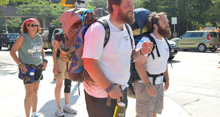 Two US veterans walked thousands of miles to heal – and raise money