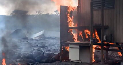 Hawaii lava flow update: Lava incinerates home on Hawaii's Big Island (+video)