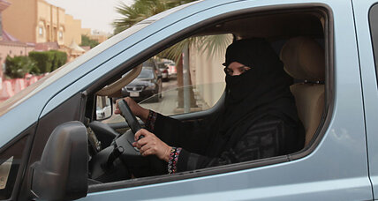Possible rules of the Saudi road for women: No makeup or drivers under 30
