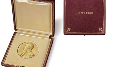 Why is James Watson auctioning off his Nobel Prize?