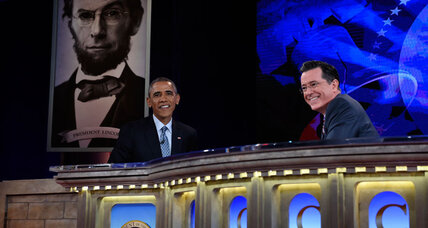 President Obama takes over for Stephen Colbert. How did Obama do? (+video)