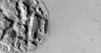 A pie on Mars? Bizarre structure baffles scientists.