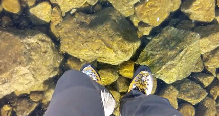 Video shows hikers 'walking on water' Real or hoax?