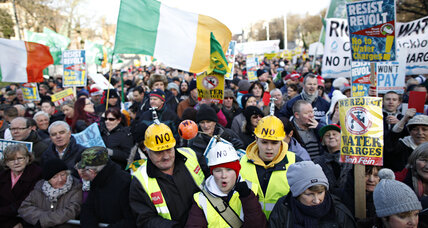 Could Dublin tax protests break the dam of Irish politics? (+video)