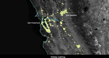 NASA says it can see your holiday lights