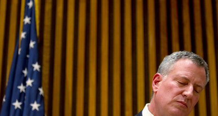 With call to 'put aside protests,' New York mayor seeks common ground
