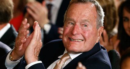 George H.W. Bush in hospital as precaution. Most popular living ex-president?