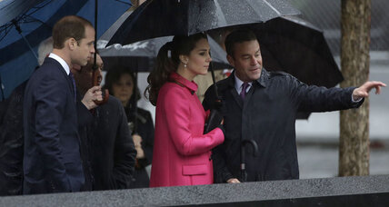 Prince William and Duchess of Cambridge visit 9/11 Memorial in New York